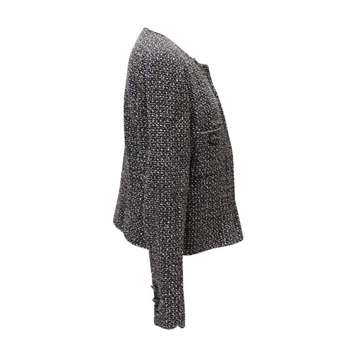 Black and white tweed Jacket-2
