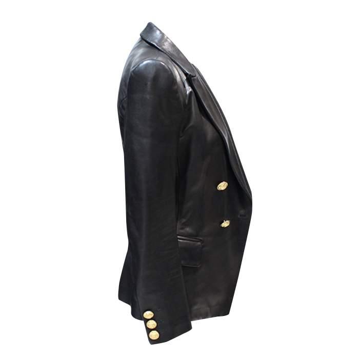Black leather Jacket-6