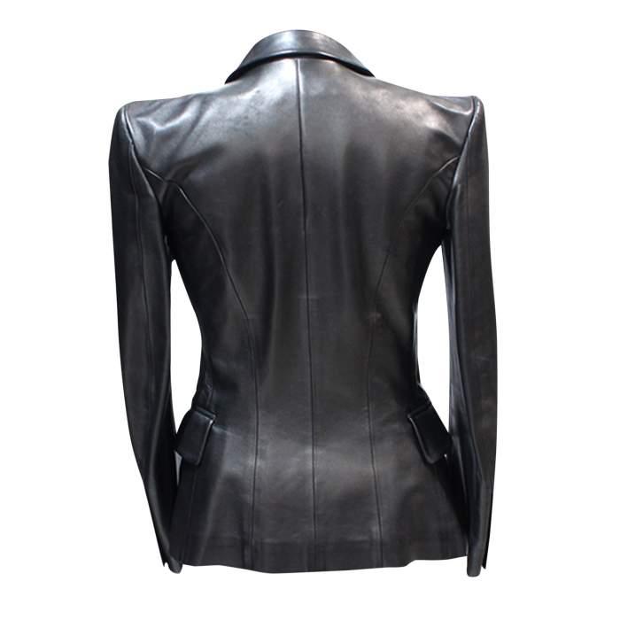 Black leather Jacket-2