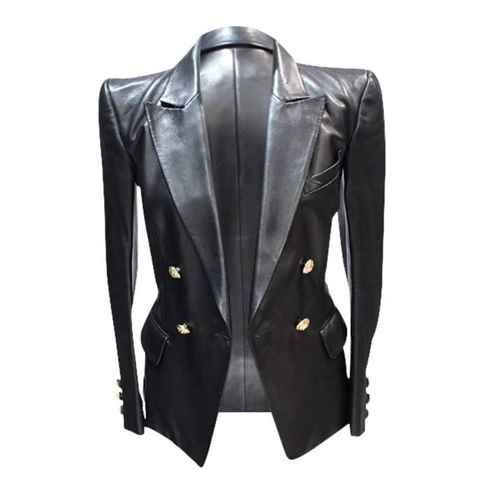 Black leather Jacket-4