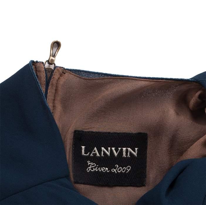 Pleated Neckline Knee-Lenght Dress-4