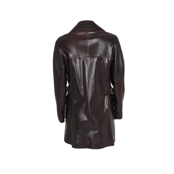Long leather jacket Coat -2