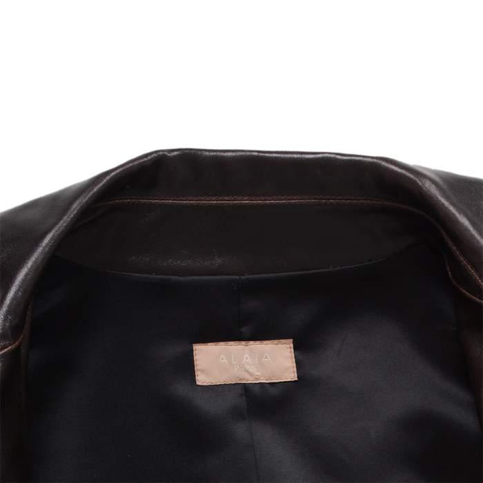 Long leather jacket Coat -4