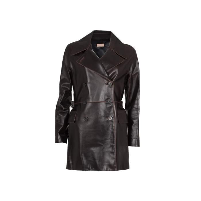 Long leather jacket Coat -0