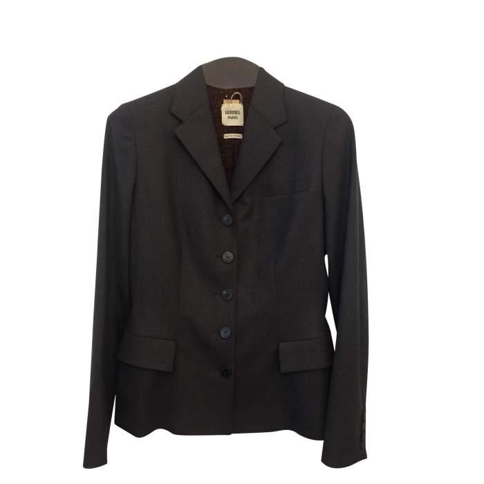 Gray wool jacket-0