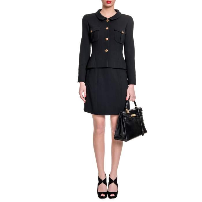 Tailored vintage wool Skirt -8