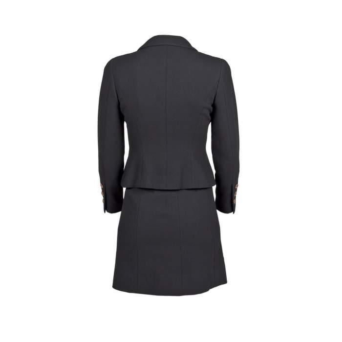 Tailored vintage wool Skirt -2