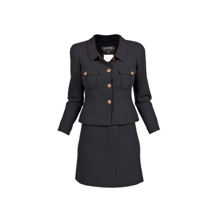 Tailored vintage wool Skirt -0