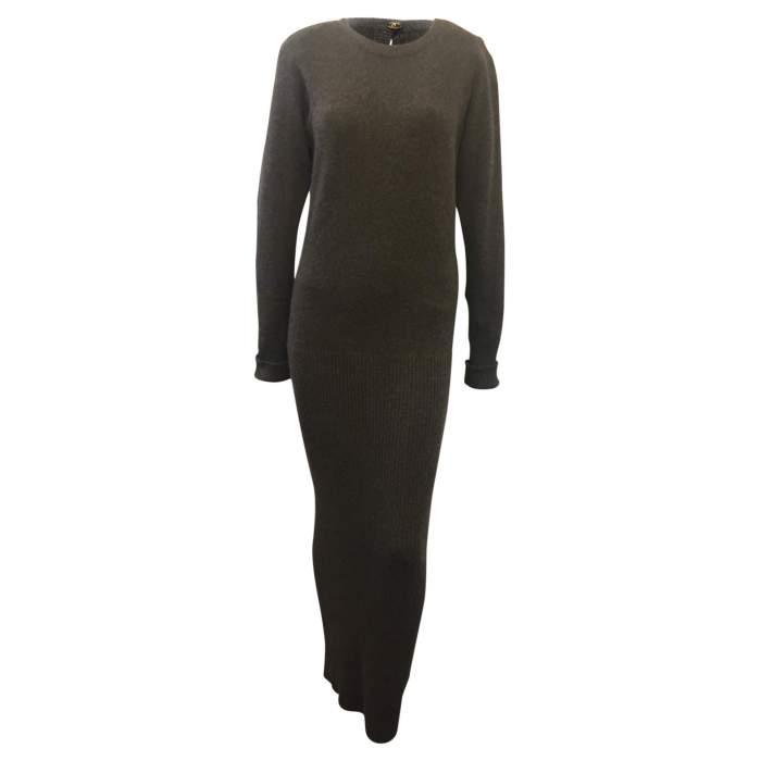 100% cashmere knit Dress-0