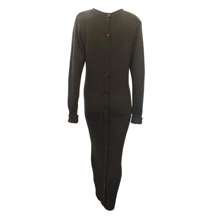 100% cashmere knit Dress-2