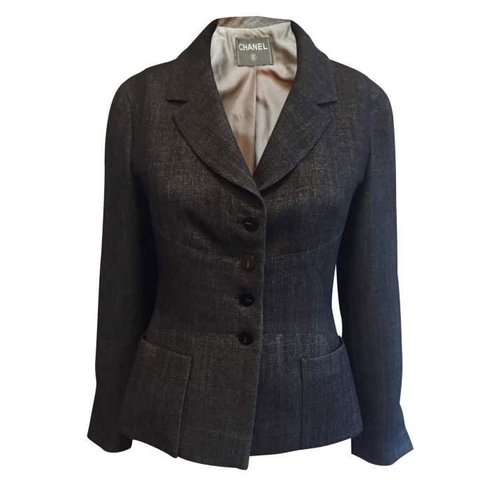 Short black and silver Jacket-0
