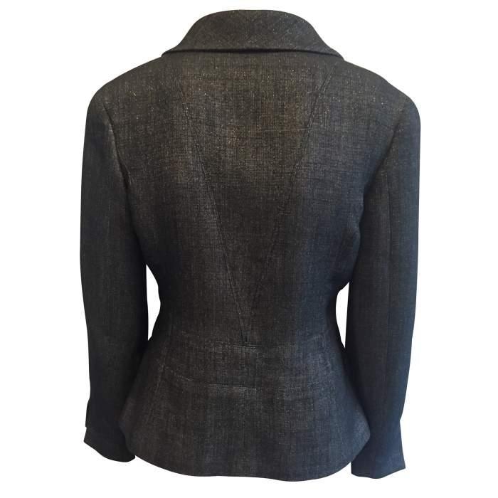 Short black and silver Jacket-2