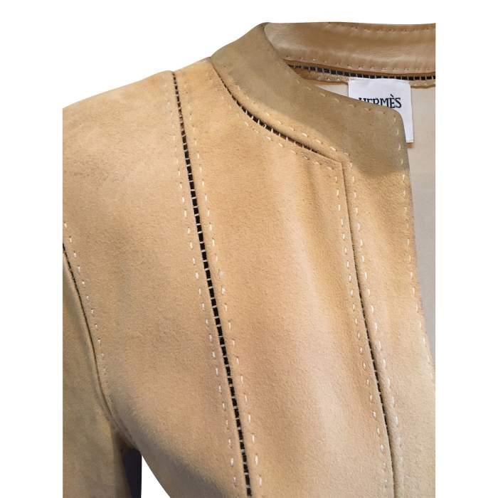 Open lambskin Jacket-4