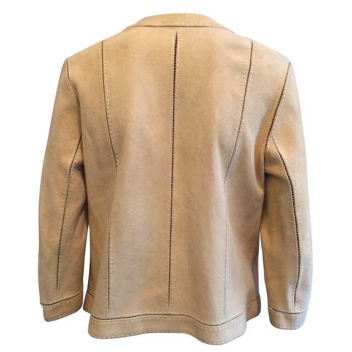 Open lambskin Jacket-2