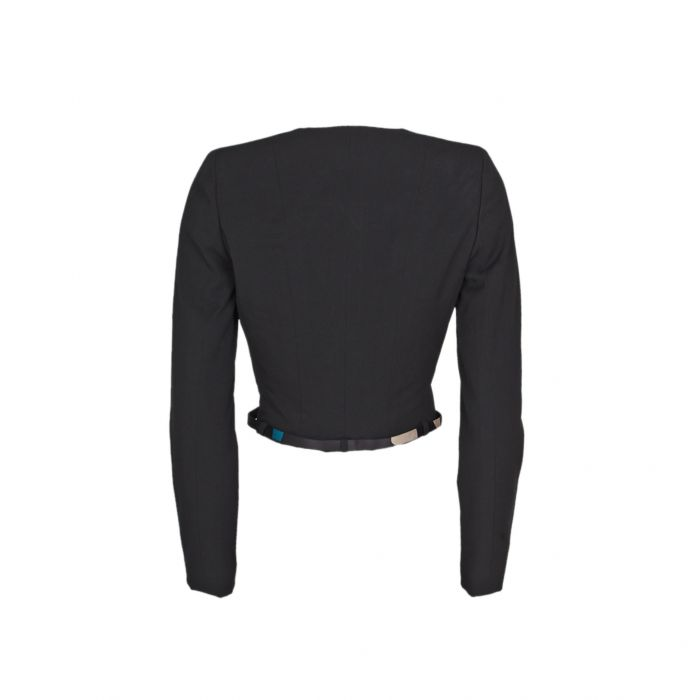 Short cross fastening wool Jacket -2