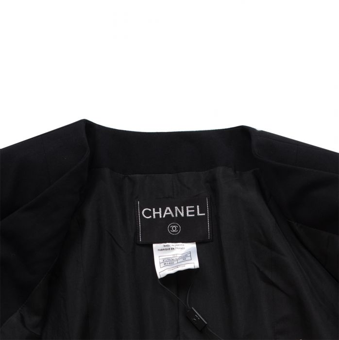 Short cross fastening wool Jacket -4