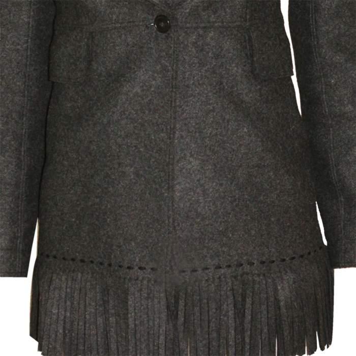 Mid length fringed wool Jacket -6