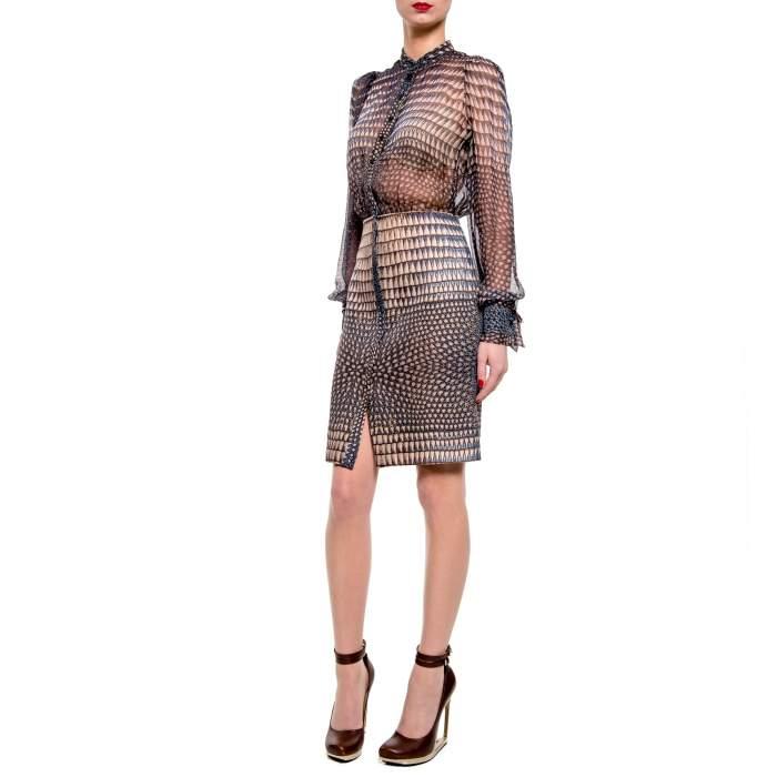 Silk printed Dress -6