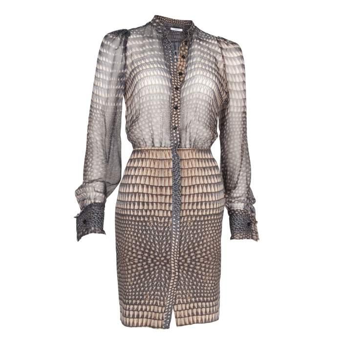 Silk printed Dress -0