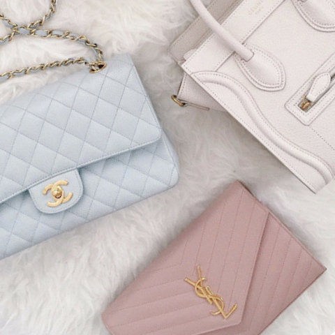 Small image of different used designer bags.