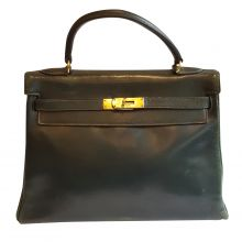 Green kelly 32 vintage box Bag-0