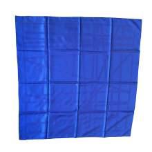 Blue silk Scarf-0